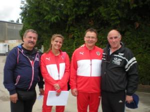 Avec ses deux interprêtes Allemands (à gauche Mme Jessica Faltner et Laurent) et à droite le Baron.
