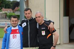 Photo du président et des responsables de l'équipe Turque