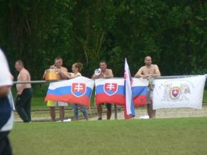 Supporters de l'équipe slovaque